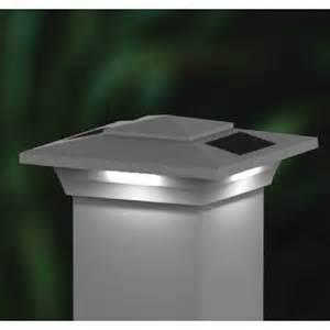 4x4 white pvc solar post cap led deck fence lights 6 pack ebay