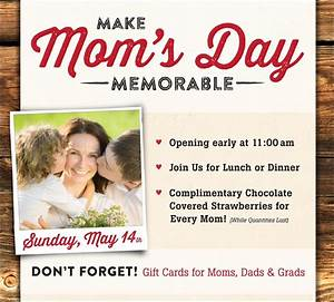Make Mother's Day Special | Smoky Mountain Pizzeria Grill