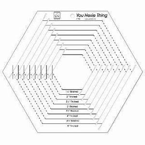 You Hexie Thing Slotted Hexagon Template Ruler