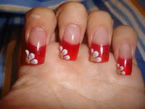 Red acrylic nails designs cute nail for girls