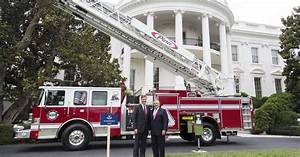 Pierce Fire Truck Takes Center Stage At White House