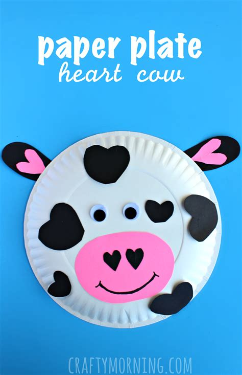 Animal Crafts: Paper Plate Cow Valentine Craft for Kids