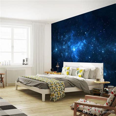 blue galaxy wall mural beautiful nightsky photo wallpaper