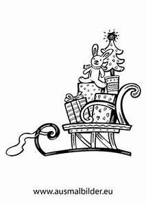 Weihnachtsgeschenke Zum Ausmalen : ausmalbilder weihnachtsgeschenke auf einem schlitten ~ Watch28wear.com Haus und Dekorationen
