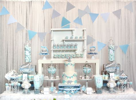 baby blue  gray elephant baby shower