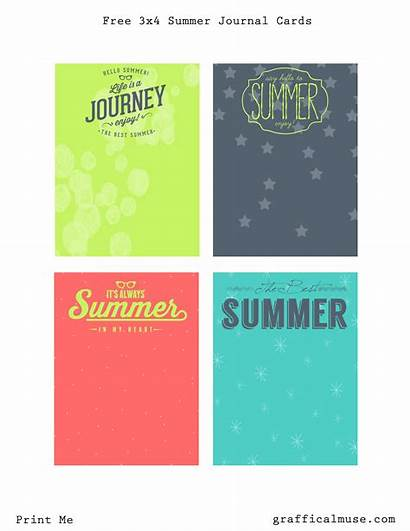 Cards Journaling Printable Summer Project Printables Journal