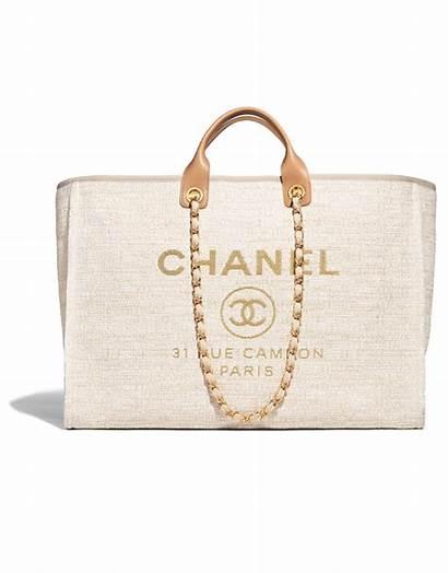 Chanel Bag Canvas Bolsa Shopping Handbags Beige
