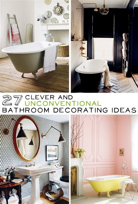diy bathroom decorating ideas 27 clever and unconventional bathroom decorating ideas