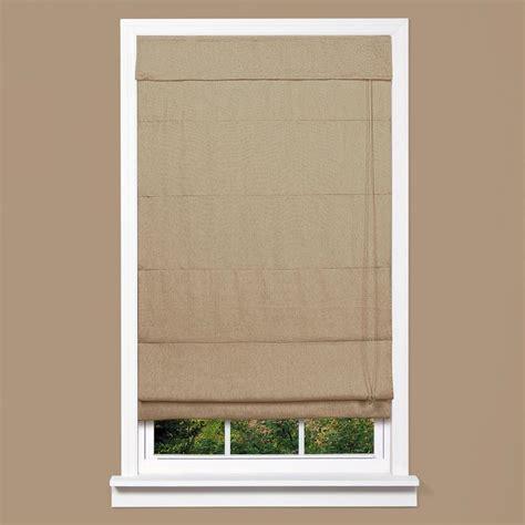 Homebasics True Linen Linen Fabric Inaccessible Cord Roman