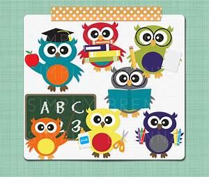 School Owl Clip Art Digital Owl Clipart School Clipart