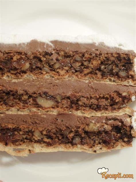 Možete odmah da stavite fil iii pa četvrtu koricu, ako želite da vam torta bude viša. Italijanska torta - Recepti.com