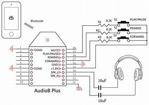 why places capacitors in front of the line to a headphone With bluetooth circuit