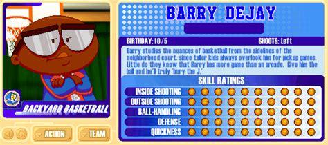 backyard basketball characters backyard sports player profile bonus unlockable