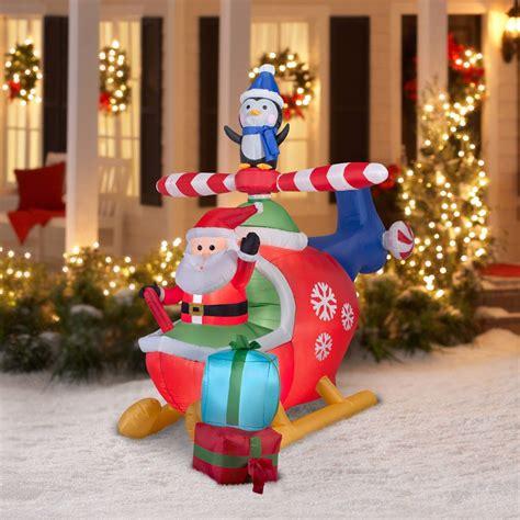 tis  season  animated santa helicopter inflatable