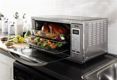 oster digital countertop oven with convection oster tssttvxldg large digital toaster oven