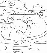 Coloring Hippopotamus Relaxing Mood Drawing Nilpferd Clipart Ausmalbilder Cartoon Kolorowanki Hipopotam Cliparts Inspirational Printable Kolorowanka Germs Dog Loadtve Biz Mandala sketch template