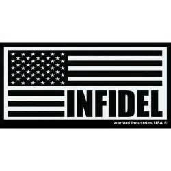 American Infidel Flag Decal