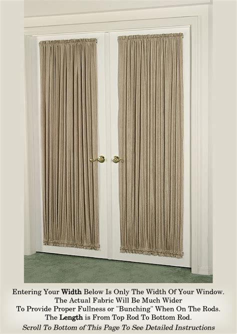 Sidelight Spring Tension Curtain Rods by Door Curtains Burnished Sateen Crushed