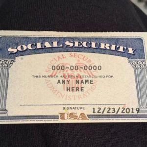 card template psd social security card id card template
