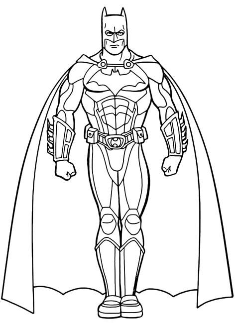 disegni  batman da colorare