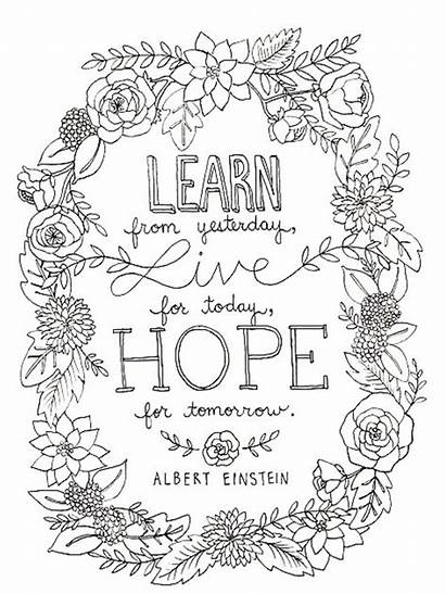 Coloring Pages Quotes Adults Printable Einstein Albert