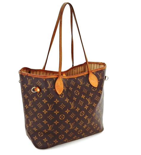 louis vuitton neverfull mm weekender brown monogram canvas