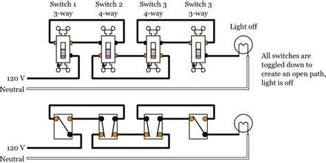 Way Light Switch Wiring Diagram Lighting