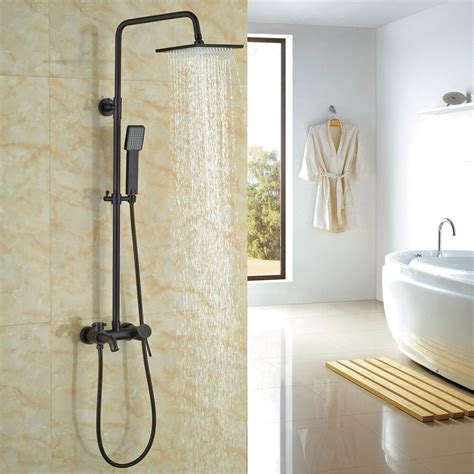 shower rubbed bronze rubbed bronze bathroom tub shower faucet system