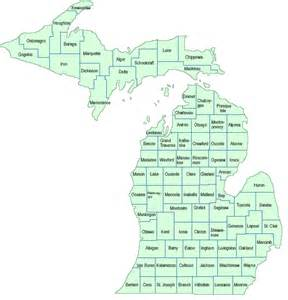 Michigan Counties Map