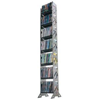 boltz dvd126 tour de rangement dvd acier finition argent capacit 233 126 dvd achat prix
