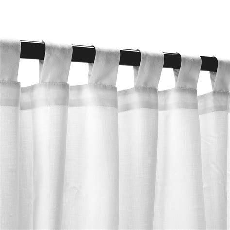 sheer snow sunbrella outdoor curtain with tabs on sale