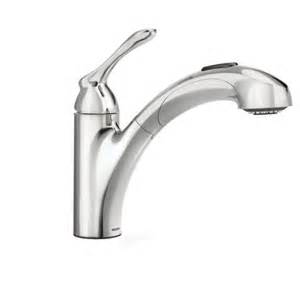 How To Fix Moen Bathroom Faucet by Banbury Chrome One Handle Pullout Kitchen Faucet 87017