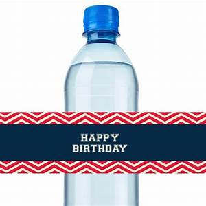 Baseball Water Bottle Label - Digital File - Print Yourself