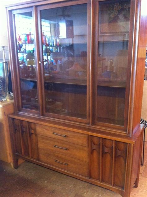 China Cabinet And Hutch by Vintage Kent Coffey China Cabinet Hutch Mid Century