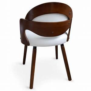 Chaise En Bois Blanc : chaise scandinave bois et blanc manu lot de 2 pas cher scandinave deco ~ Teatrodelosmanantiales.com Idées de Décoration