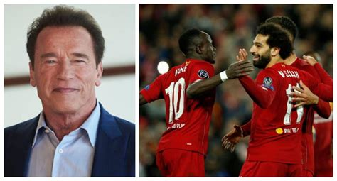 Arnold Schwarzenegger reveals he loves Liverpool and makes ...