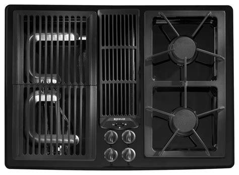 jenn air gas downdraft cooktop jenn air 30 quot gas downdraft cooktop black on black