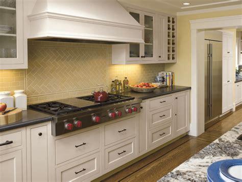 backsplash for yellow kitchen glass subway tile backsplash in kitchen ideas
