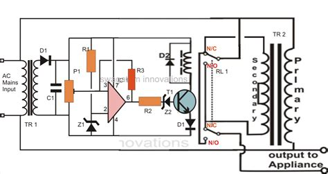Triac Controlled Mains Voltage Stabilizer Circuit Making