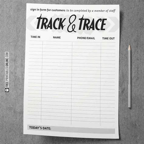 printable covid track  trace forms  printables