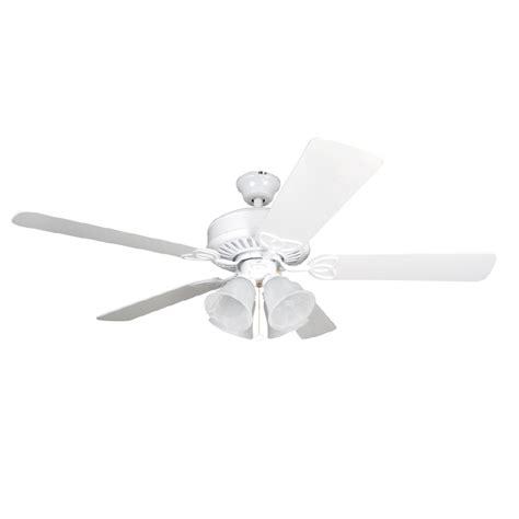 harbor 52 inch ceiling fan white shop harbor springfield 52 in matte white multi