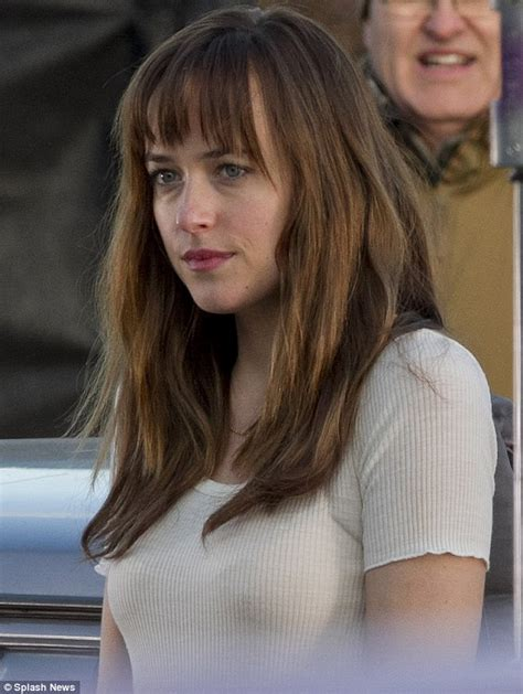 Fifty Shades Of Grey Images Dakota Johnson Displays Bags Under Her Eyes As She Bundles Up In A Modest Ensemble To Film Fifty