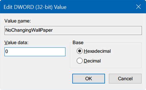 fix cannot change desktop background in windows 10
