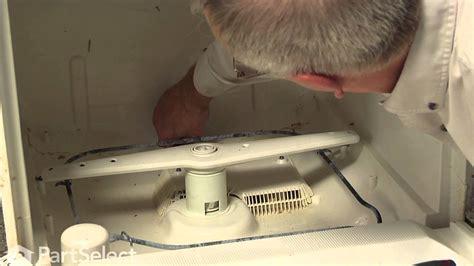 ge dishwasher repair replacing  piston  nut ge part wdx youtube