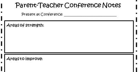 the fabulous grade parent conferences made 954 | Parent Teacher Conference Notes