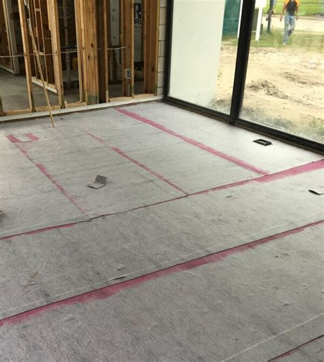 tile flooring underlayment building out bugs future cracks in the slab polyguard products