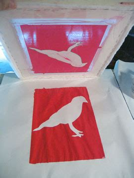 screen printing  paper stencils