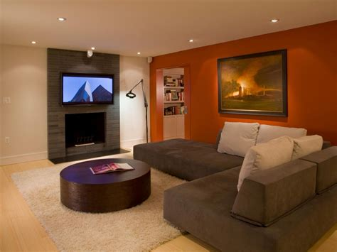 painted room exles pictures of living rooms painted with two colours brown and orange home combo