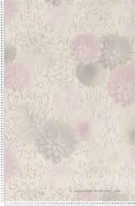Papier Peint Mauve Et Gris papier peint m 233 daillons fleuris gris et mauv papier
