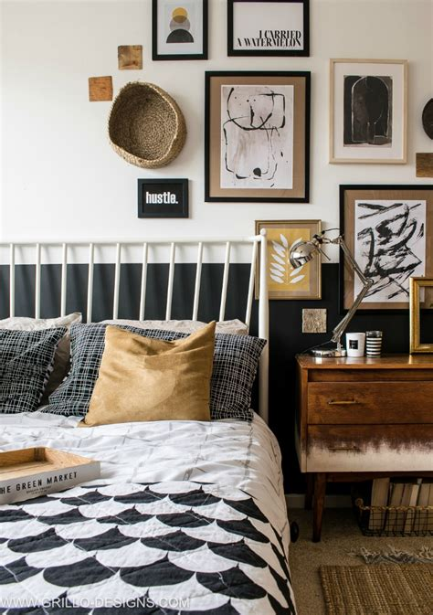Small Bedroom Makeover by Modern Vintage Small Bedroom Makeover Grillo Designs